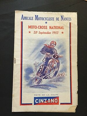 Lot De Programmes Motocross Nantais