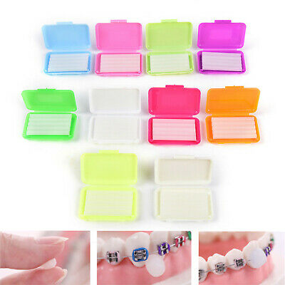 100 Packs Dental Orthodontics Ortho Wax 10 Fruit Scent Braces Gum Irritation VIP