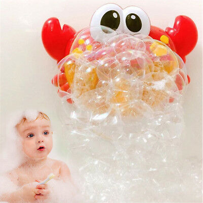Crab Bubble Machine Musical Bubble Maker Bath Baby Toy Bath Shower Fun Gift