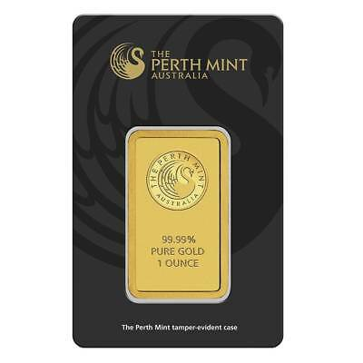 Perth Mint Kangaroo 1oz .9999 Gold Minted Bullion Bar - Black Security Card
