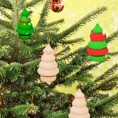 10pcs Snowman Christmas Tree Wooden Peg Doll Decor Unfinished Doll Bodies N7