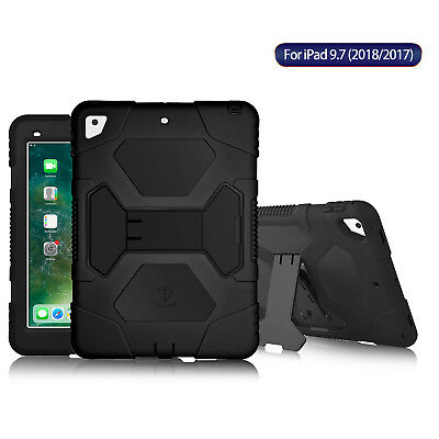 """For Apple iPad 9.7"""" 2017 2018 5th 6th Gen Shockproof Defender Case Cover Stand"""