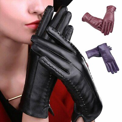 Women Ladies Soft Winter Thermal Gloves Slim Line Driving Touch Screen Mittens
