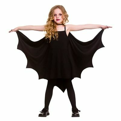New Kids Gothic Vampire Bat Wings Costume Cape Fancy Dress Halloween Outfit
