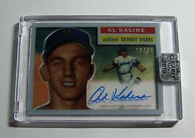 2018 Topps Clearly Authentic Al Kaline 1956 Reprint Auto Autograph #ed /99