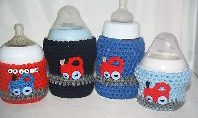 Crochet baby bottle COVER Tommee Tippee/ Nuk/ MAM/ AVENT/ DrBrown / PERSONALISED