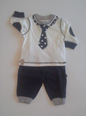Baby boys clothes two piece top and trousers set 0-3 3-6 6-9 9-12 12-18 months