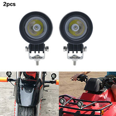 2pcs 10W Spot CREE LED Light Off road Round Work Lamp For Bike Truck 4WD ATV