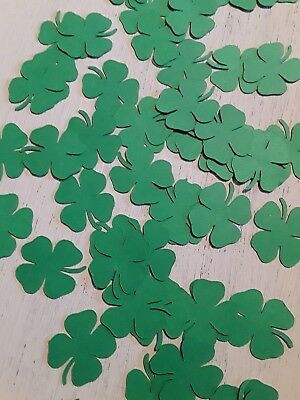 Shamrock Four Leaf Clover Luck of the Irish St Patrick's Day Table Confetti