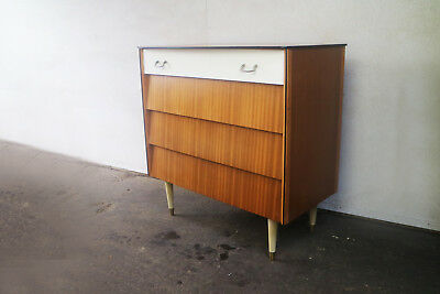 English mid century retro 1960's chest of drawers by Avalon