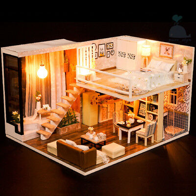 DIY Handcraft Miniature Project Wooden Dolls House Waiting For The Time 2018