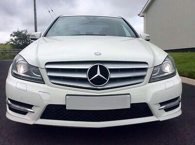 Mercedes C-Class W204 07-14 Silver Chrome Sports Amg Front Grill Grille