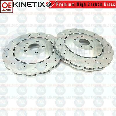 FOR AUDI RS Q3 2.5 RSQ3 FRONT WAVED 365mm DRILLED BRAKE DISCS PAIR 8U0615301 A B