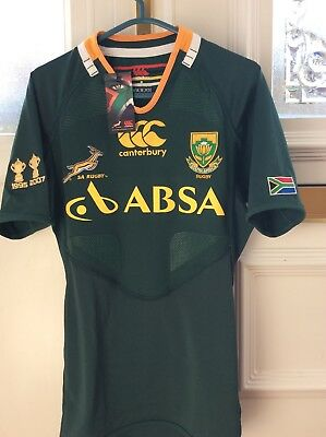 Springbok South Africa Rugby 2012/13 Rare Jersey Players Edition - World Cup (M)