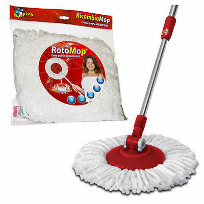 Replacement Single Rotomop Mop in Microfiber Roto Mop Super Five X5