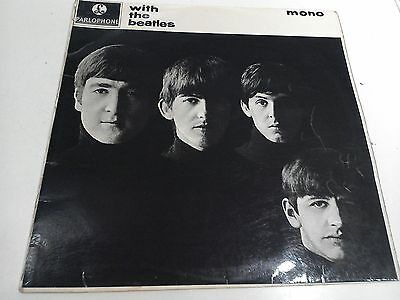With The Beatles 2nd Press MONO EX Vinyl LP Record PMC 1206 Fully Laminated