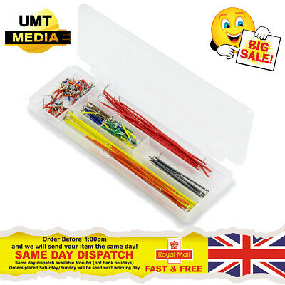 140 Pcs U-Shape Breadboard Jumper Cable Wire Kit Solderless for Arduino Pi