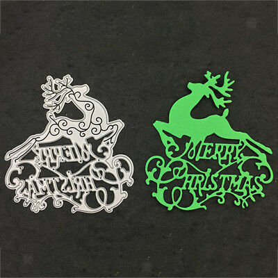 Christmas Elk Metal Cutting Dies Cards Making Tools Hand Acount Decoration
