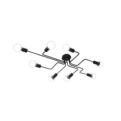 BAYCHEER HL420000 Industrial Vintage style Wrought Iron Large Semi Flush Ceiling