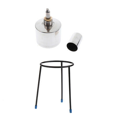 Experiment Beaker Tripod Stand+Stainless Steel Alcohol Lamp with Wick 200ml