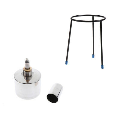 Experiment Beaker Tripod Stand+Stainless Steel Alcohol Lamp w/ Wick 400ml