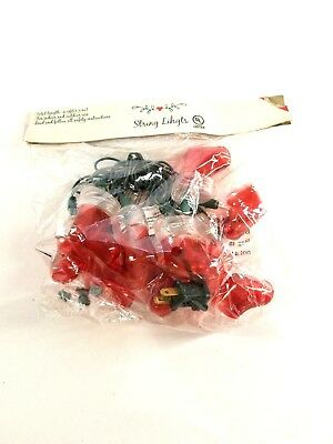 Christmas Santa Boot Stocking String Lights 4.9 ft indoor/outdoor Holiday