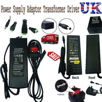 DC 12V 1A/2A/5A/6A/8A AC Power Supply Adapter Connector Transformer LED Strip UK