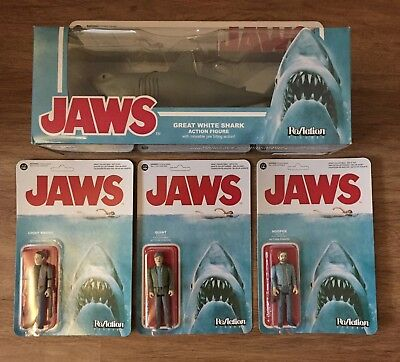 Funko ReAction Jaws Complete - Der Weiße Hai - Hooper, Brody, Quint and Bruce -