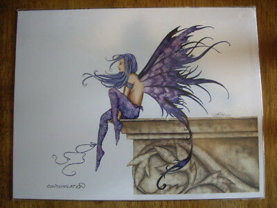 Amy Brown Fairy Print - Contemplation - Dated 2001 - New
