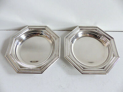 PAIR of CHRISTOFLE SILVER PLATED BUTTER COASTERS DISHES ( pair 1 )