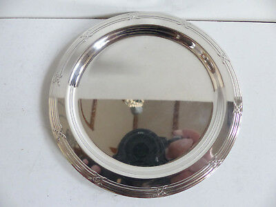 Superb Christofle Rubans Silver Plated Bread / Bottle Coasters Dish ( 8 Avail. )