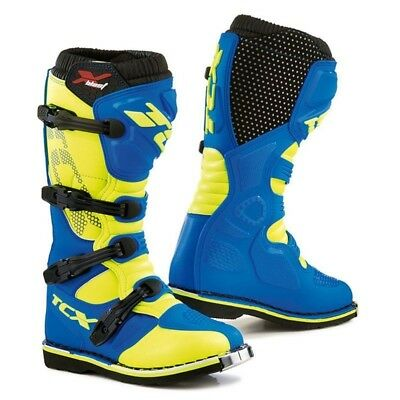 Stivali Tcx Off Road X Blast Cross Motard  Fuori Strada Royal Blu Giallo  42