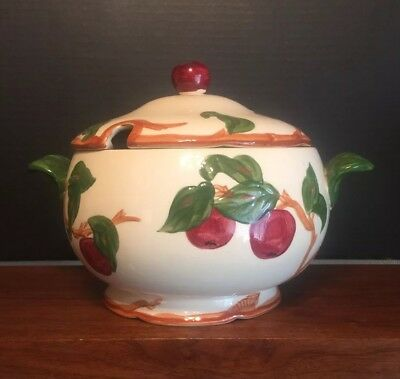 Vintage Franciscan APPLE Tureen & Lid Solid Foot -   California Mark Excellent