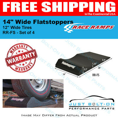 """Race Ramps 14"""" Wide Flatstoppers fits 12"""" Wide Tires (Set of 4) RR-FS"""