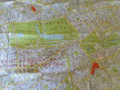 Geographers' MAP OF LONDON with Complete Index to Streets