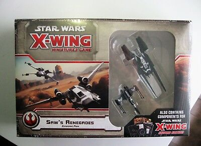 STAR WARS X-Wing SHAW'S RENEGADES Expansion Pack Fantasy Flight Sealed !!!