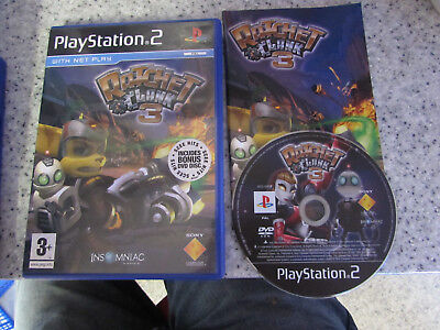 Sony Playstation 2 Ps2 Game Ratchet & Clank 3 With Hits Demo Disc