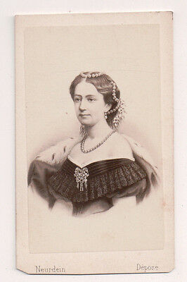 Vintage CDV Princess Louise of Hesse-Kassel Queen of Denmark Neurdein Phot