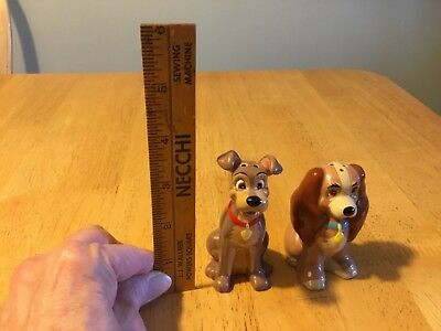 Disney Collectible Lady and the Tramp Salt & Pepper Shakers
