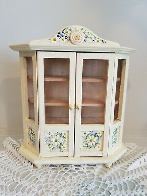Vintage Wooden Miniature Doll House Furniture - Dining Room Hutch
