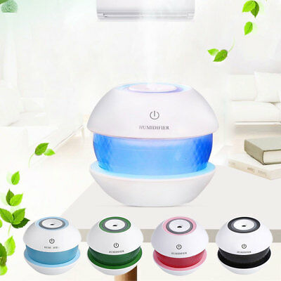 LED Ultrasonic Humidifier 150ML USB Aroma Essential Oil Diffuser Aromatherapy US