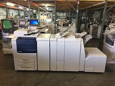Xerox Color 550 with Light Pro Finisher, SquareFold, EX550 fiery! Meter 209k