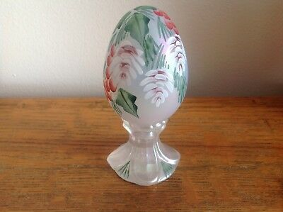 Vintage Fenton Art Glass Egg Pinecone & Berries Signed 1116/3000 Hand Painted