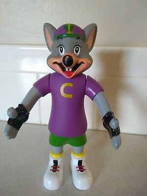 "Official CHUCK E CHEESE Pizza Action Figure 7"" Prize Toy RARE HTF"
