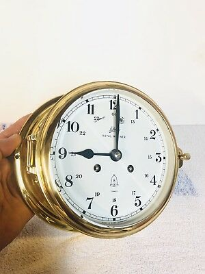 8 Days Schatz Ships bell Clock Royal mariner, Service strong working clock.
