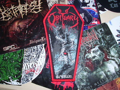 Obituary Coffin Patch Woven Death Metal Monstrosity