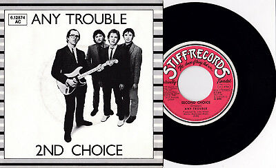 """Any Trouble - 2nd Choice 7"""" GERMANY PROMO Manchester UK New Wave Power Pop Rock"""