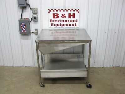 Avalon 23 x 23 Stainless Steel Donut Icing Glazing Table