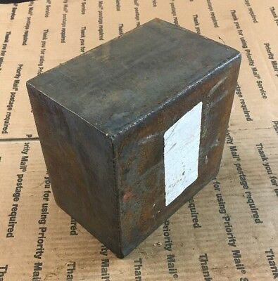 """4"""" THICK Steel Block Press Blacksmithing Target Weight Heavy Square"""