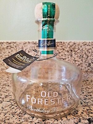 Empty Old Forester Birthday Bourbon 2002-2014 Bourbon Bottle and tag (750ml)